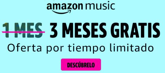 Consigue Amazon Music por 3 meses gratis